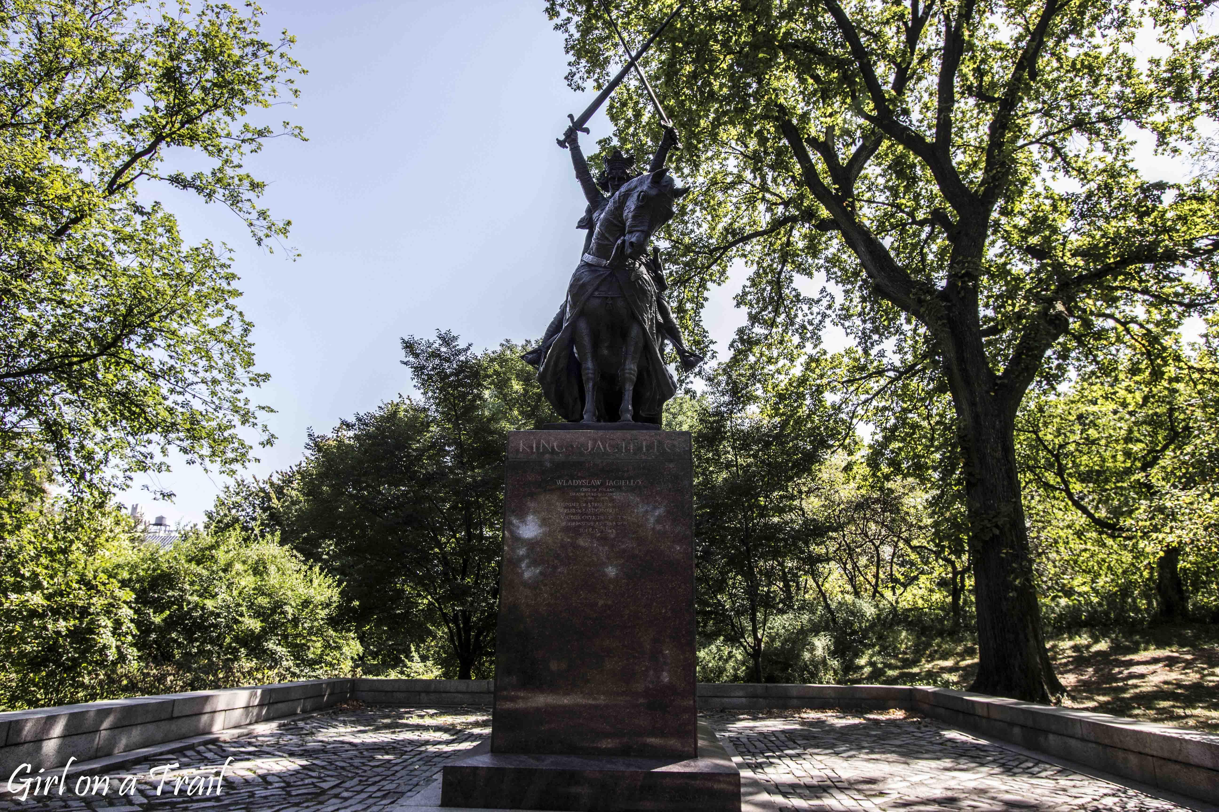 Central Park - pomnik Jagiełły