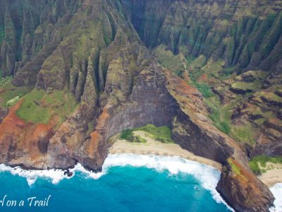 Na Pali from the air – a story of two flights